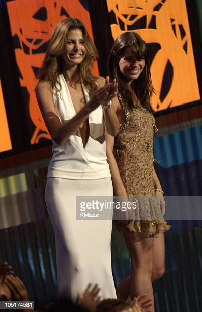 Elsa Benitez and Daniela Cicarelli during MTV Video Music Awards Latin America 2003 Show at The Jackie Gleason Theater in Miami Beach Florida United...