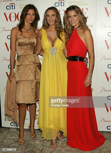 Elsa Benitez Angelica Castro and Jaydy Michel during Vogue en Espanol Presents Spring Collection Red Carpet at Fisher Island in Miami Beach Florida...