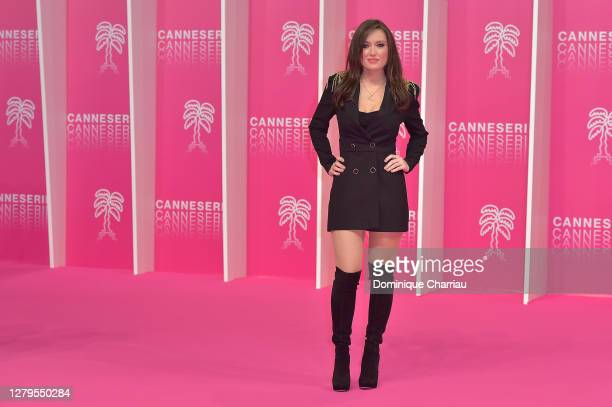 Elsa Esnoult attends the Pink Carpet Day Two at the 3rd Canneseries on October 10 2020 in Cannes France