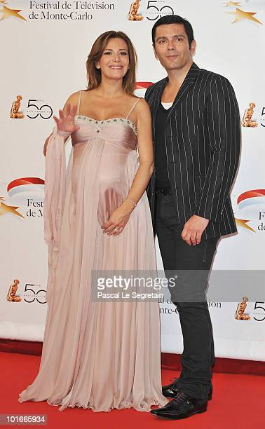 Elsa Fayer and guest arrive to attend the opening night of the 2010 Monte Carlo Television Festival held at Grimaldi Forum on June 6 2010 in...
