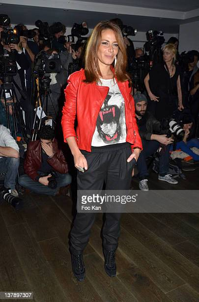 Elsa Fayer attend the Franck Sorbier Front Row Paris Fashion Week Haute Couture S/S 2012 at the Pavillon Vendome on January 25 2012 in Paris France