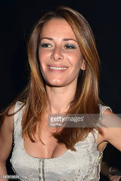 Elsa Fayer attends the Basil Soda Front Row Paris Fashion Week Haute Couture F/W 2013 at the Couvent des Cordeliers on July 3 2012 in Paris France