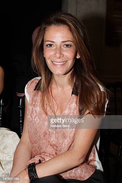 Elsa Fayer attends the Didit Hediprasetyo HauteCouture Show as part of Paris Fashion Week Fall/Winter 2012/13 at L'Oratoire Du Louvre on July 4 2012...