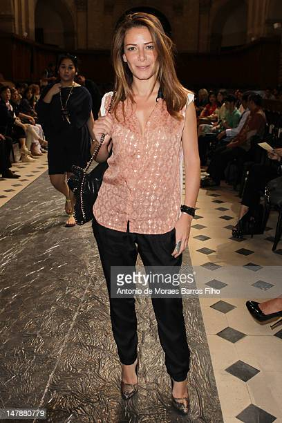 Elsa Fayer attends the Didit Hediprasetyo HauteCouture Show as part of Paris Fashion Week Fall / Winter 2013 at L'Oratoire Du Louvre on July 4 2012...