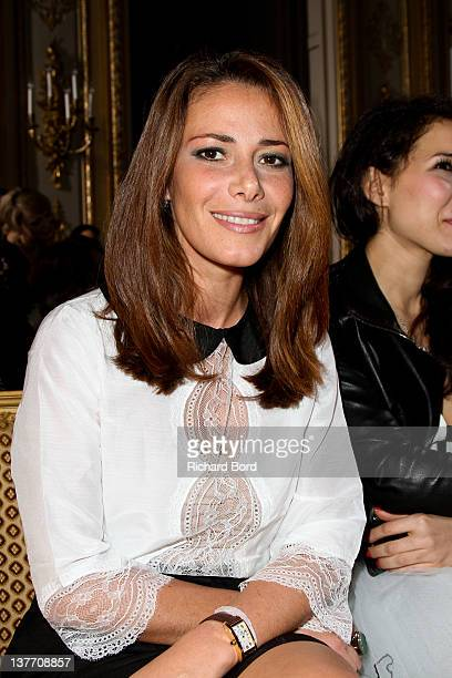 Elsa Fayer attends the Eva Minge Spring/Summer 2012 HauteCouture Show as part of Paris Fashion Week at Hotel ShangriLa on January 25 2012 in Paris...