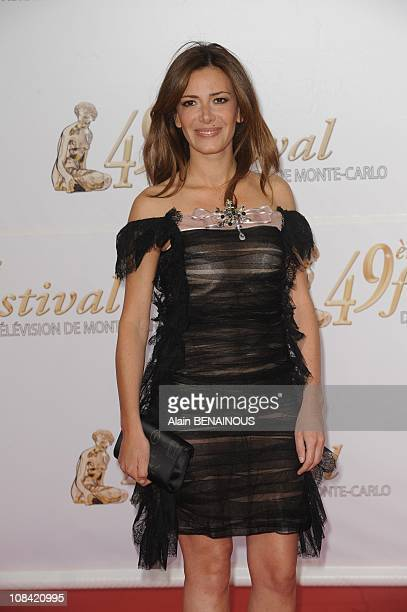 Elsa Fayer attends the opening night of the 2009 Monte Carlo Television Festival held at Grimaldi Forum in Monte Carlo Monaco on June 07 2009