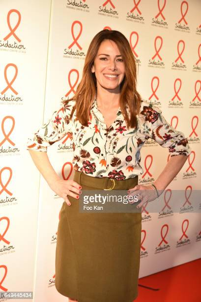 Elsa Fayer attends the Sidaction 2017 Launch Party Photocall at Musee Branly on March 07 2017 in Paris France