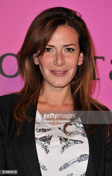 Elsa Fayer poses during a photocall before the presentation of The Passionata collection on March 23 2010 in Paris France