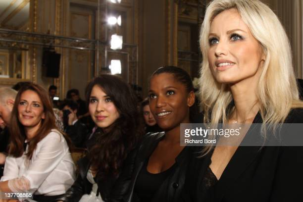 Elsa Fayer Sofiia Manousha Audrey Chauveau and Adriana Karembeu attend the Eva Minge Spring/Summer 2012 HauteCouture Show as part of Paris Fashion...