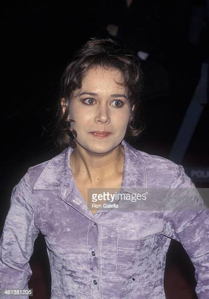 Elsa Graves attends the premiere of 'The Crucible' on November 25 1996 at the Gotham Cinema in New York City