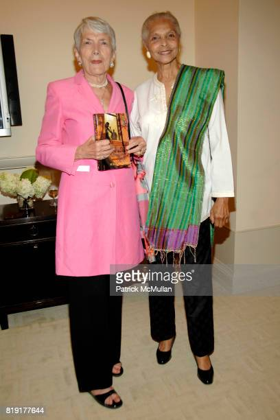 Elsa Honig Fine and Grace Hope Hill attend Susan FalesHill's ONE FLIGHT UP Book Launch Party at 15 Central Park West on July 21st 2010 in New York...