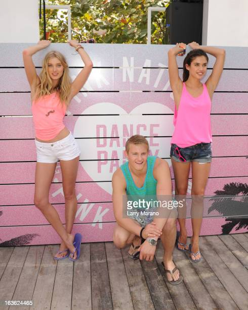 Elsa Hosk Alexander Ludwig and Sara Sampaio arrive at Victoria's Secret PINK Ultimate Spring Break Dance Party in Miami at Raleigh Hotel on March 13...