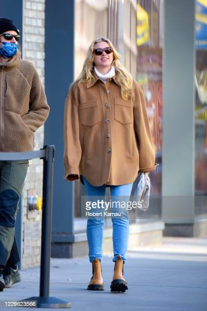 Elsa Hosk and boyfriend Tom Daly are seen out and about in Manhattan on November 14, 2020 in New York City.