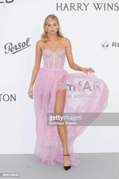 Elsa Hosk arrives at the amfAR Gala Cannes 2017 at Hotel du CapEdenRoc on May 25 2017 in Cap d'Antibes France