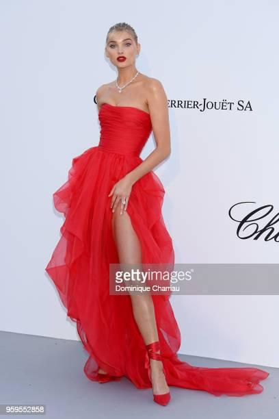 Elsa Hosk arrives at the amfAR Gala Cannes 2018 at Hotel du CapEdenRoc on May 17 2018 in Cap d'Antibes France