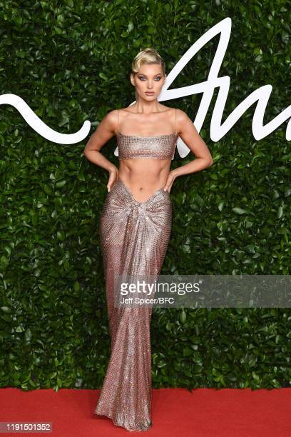Elsa Hosk arrives at The Fashion Awards 2019 held at Royal Albert Hall on December 02 2019 in London England