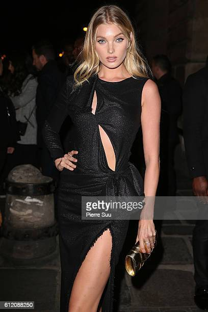 Elsa Hosk arrives at the Gold Obsession Party L'Oreal Paris as part of the Paris Fashion Week Womenswear Spring/Summer 2017 on October 2 2016 in...