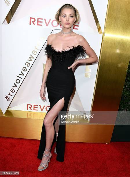 Elsa Hosk arrives at the #REVOLVEawards at DREAM Hollywood on November 2 2017 in Hollywood California