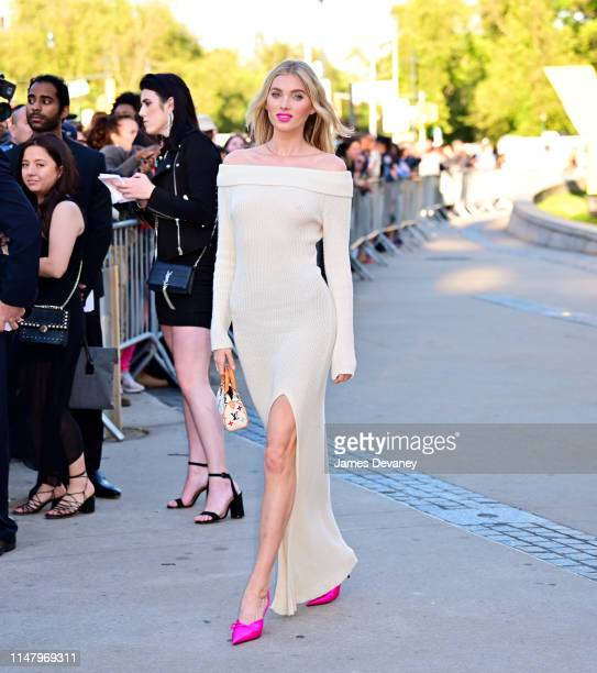 Elsa Hosk arrives to the 2019 CFDA Fashion Awards at Brooklyn Museum on June 3, 2019 in New York City.