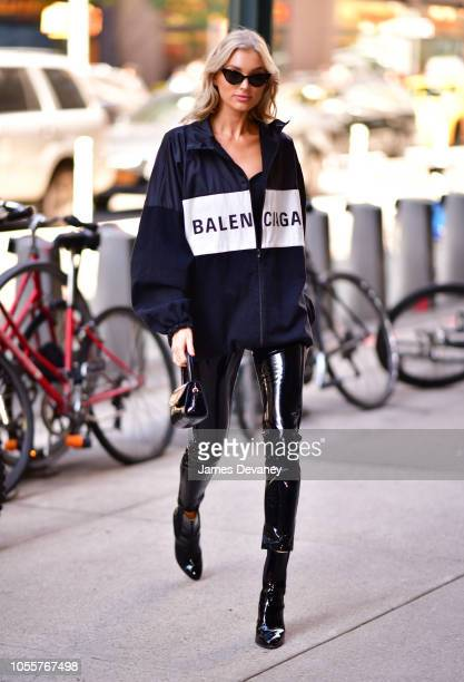 Elsa Hosk arrives to Victoria Secret office building in Midtown Manhattan on October 31 2018 in New York City