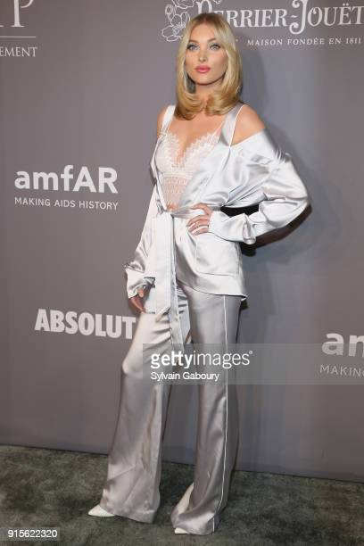 Elsa Hosk attends 2018 amfAR Gala New York Arrivals at Cipriani Wall Street on February 7 2018 in New York City