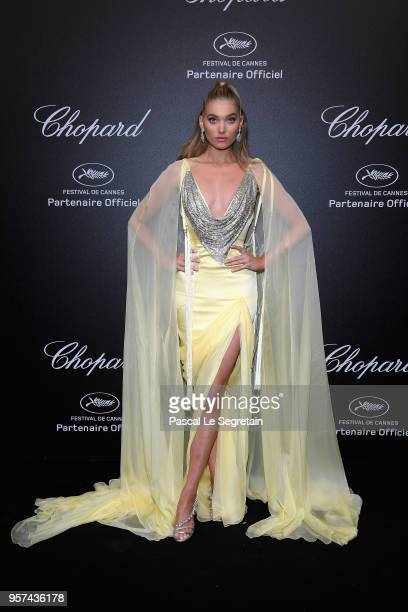 Elsa Hosk attends Chopard Secret Night during the 71st annual Cannes Film Festival at Chateau de la Croix des Gardes on May 11 2018 in Cannes France