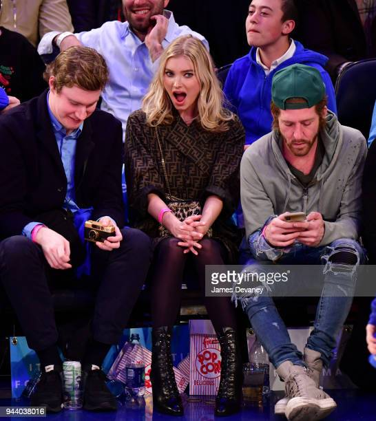 Elsa Hosk attends New York Knicks Vs Cleveland Cavaliers at Madison Square Garden on April 9 2018 in New York City