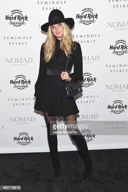 Elsa Hosk attends Seminole Spirit Presented By Nomad Two Worlds on February 17 2015 in New York City Photo by Jamie McCarthy/Getty Images for Nomad...