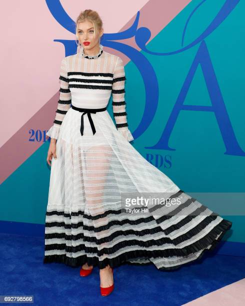 Elsa Hosk attends the 2017 CFDA Fashion Awards at Hammerstein Ballroom on June 5 2017 in New York City