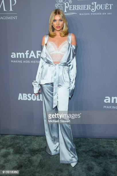 Elsa Hosk attends the 2018 amfAR Gala New York at Cipriani Wall Street on February 7 2018 in New York City