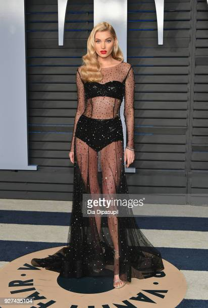 Elsa Hosk attends the 2018 Vanity Fair Oscar Party hosted by Radhika Jones at Wallis Annenberg Center for the Performing Arts on March 4, 2018 in...