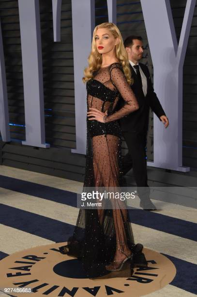 Elsa Hosk attends the 2018 Vanity Fair Oscar Party hosted by Radhika Jones at the Wallis Annenberg Center for the Performing Arts on March 4, 2018 in...