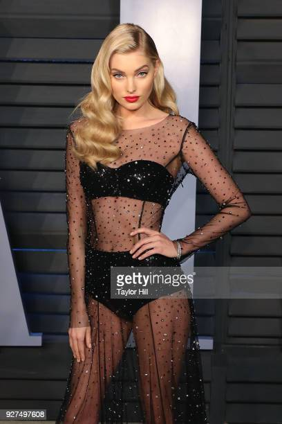 Elsa Hosk attends the 2018 Vanity Fair Oscar Party hosted by Radhika Jones at the Wallis Annenberg Center for the Performing Arts on March 4 2018 in...