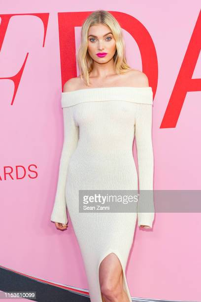 Elsa Hosk attends the 2019 CFDA Fashion Awards- Arrivals at Brooklyn Museum on June 03, 2019 in New York City.