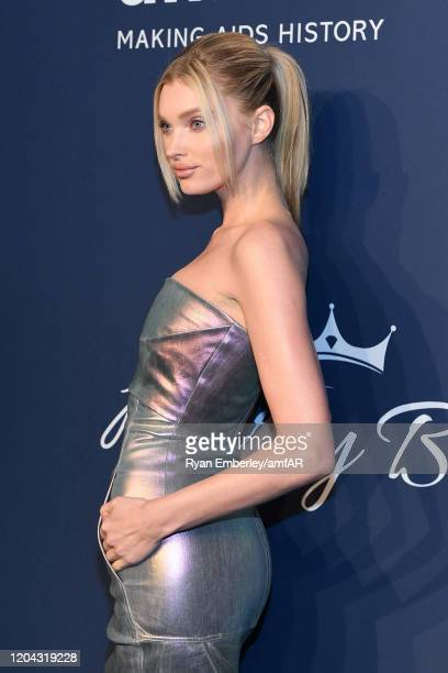 Elsa Hosk attends the 2020 amfAR New York Gala on February 05 2020 in New York City