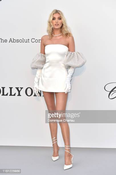 Elsa Hosk attends the amfAR Cannes Gala 2019 at Hotel du Cap-Eden-Roc on May 23, 2019 in Cap d'Antibes, France.