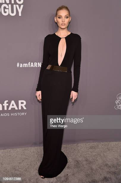 Elsa Hosk attends the amfAR New York Gala 2019 at Cipriani Wall Street on February 6 2019 in New York City