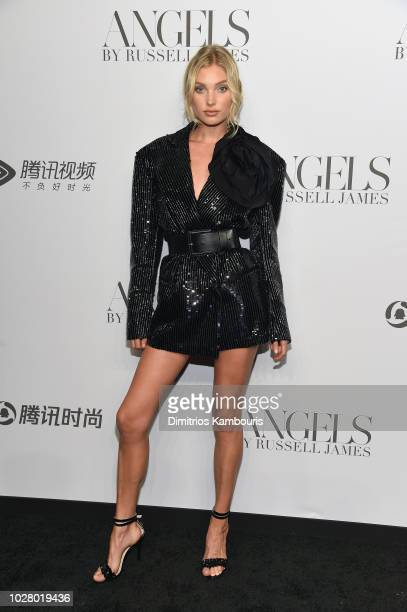 Elsa Hosk attends the 'ANGELS' by Russell James book launch and exhibit hosted by Cindy Crawford and Candice Swanepoel at Stephan Weiss Studio on...