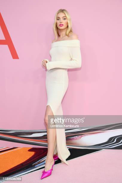 Elsa Hosk attends the CFDA Fashion Awards at the Brooklyn Museum of Art on June 03, 2019 in New York City.