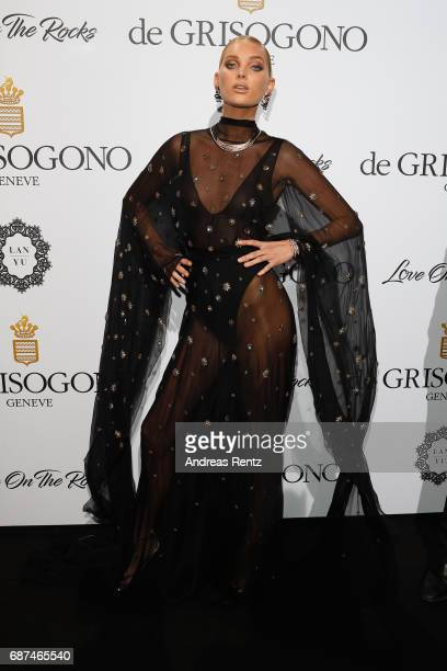 Elsa Hosk attends the DeGrisogono 'Love On The Rocks' during the 70th annual Cannes Film Festival at Hotel du CapEdenRoc on May 23 2017 in Cap...