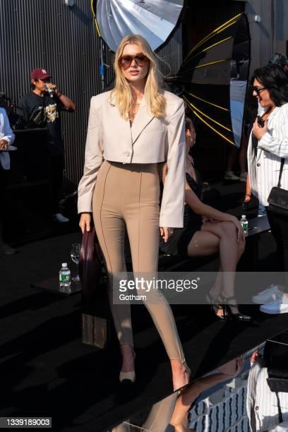 Elsa Hosk attends the DUNDAS x REVOLVE NYFW Runway Show at Casa Cipriani at Casa Cipriani on September 08, 2021 in New York City.