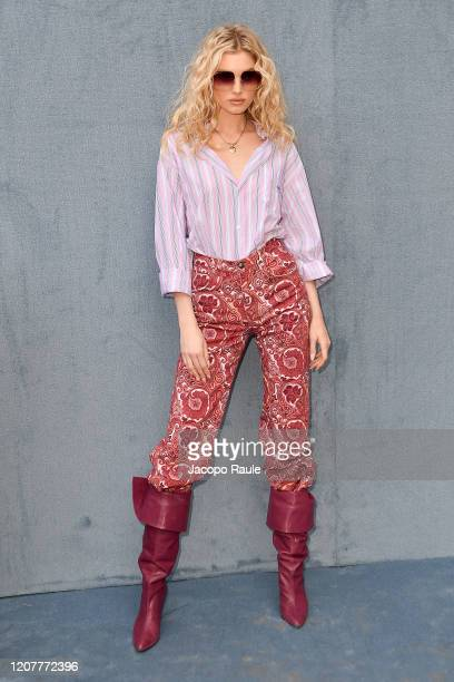 Elsa Hosk attends the Etro fashion show on February 21 2020 in Milan Italy