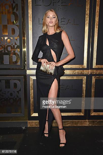 Elsa Hosk attends the Gold Obsession Party L'Oreal Paris Photocall as part of the Paris Fashion Week Womenswear Spring/Summer 2017 on October 2 2016...