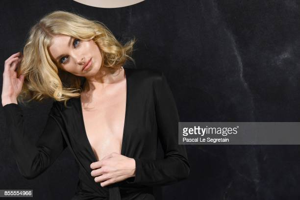 Elsa Hosk attends the L'Oreal Paris X Balmain event as part of the Paris Fashion Week Womenswear Spring/Summer 2018 on September 28 2017 in Paris...