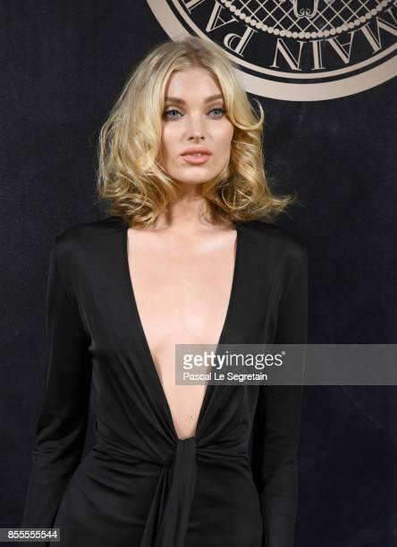 Elsa Hosk attends the L'Oreal Paris X Balmain event as part of the Paris Fashion Week Womenswear Spring/Summer 2018 on September 28 2017 in Paris...