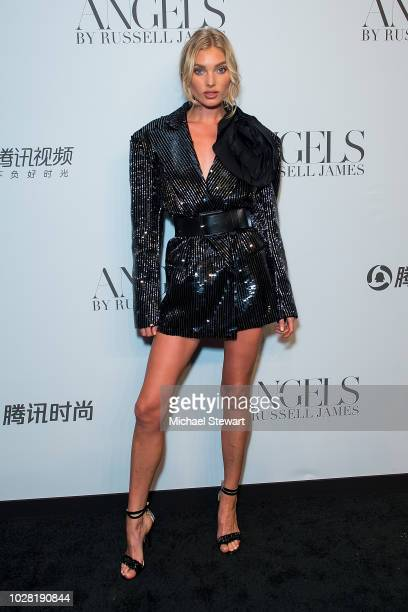 Elsa Hosk attends the Russell James 'Angels' book launch & exhibit at Stephan Weiss Studio on September 6, 2018 in New York City.