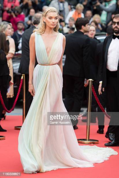Elsa Hosk attends the screening of A Hidden Life during the 72nd annual Cannes Film Festival on May 19 2019 in Cannes France