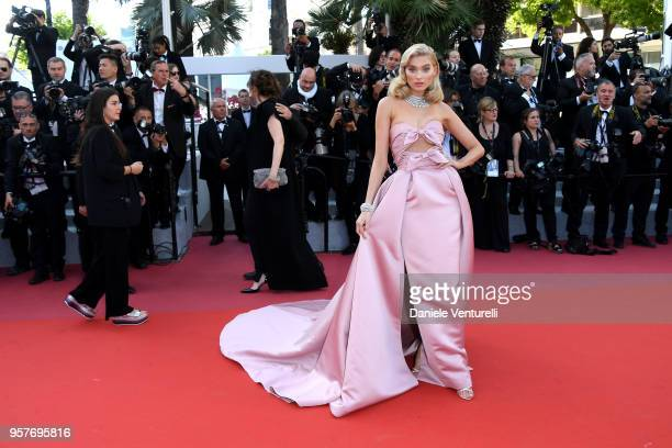 Elsa Hosk attends the screening of 'Girls Of The Sun ' during the 71st annual Cannes Film Festival at Palais des Festivals on May 12 2018 in Cannes...