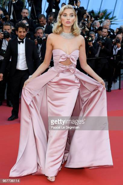 Elsa Hosk attends the screening of Girls Of The Sun during the 71st annual Cannes Film Festival at Palais des Festivals on May 12 2018 in Cannes...