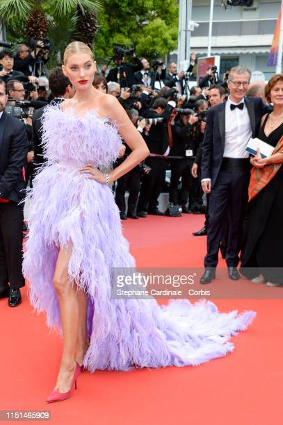 Elsa Hosk attends the screening of Sibyl during the 72nd annual Cannes Film Festival on May 24 2019 in Cannes France